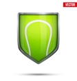 Bright shield in the tennis ball inside vector image