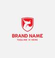 bull shield logo icon vector image vector image