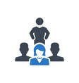 business leadership icon vector image vector image