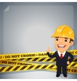 Businessman With Danger Tapes vector image vector image