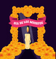 candle to decorate in day of the dead vector image vector image