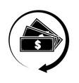 cashback symbol cashback logo concept cash back vector image