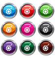 color picker set 9 collection vector image vector image