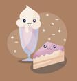 delicious ice cream kawaii character vector image vector image
