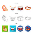 design drum and instrument icon vector image