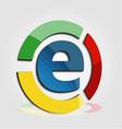 E commerce colorful logo vector image vector image