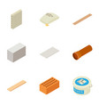 engineering material icons set isometric style vector image vector image