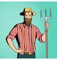 Farmer comics character vector image vector image