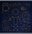 flat design elements gold vector image vector image