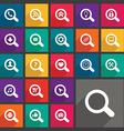 Flat search icons set vector image vector image