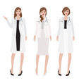 flat style woman doctor with stethoscope vector image