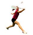 geometric polygonal professional female badminton