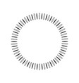 geometric sun with rays in circle element made of vector image