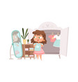 girl dressing up cute bachoice clothes in vector image vector image