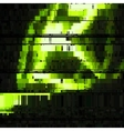 Glitch Green Abstract Background vector image vector image