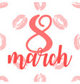 greeting card for march 8 international women s vector image vector image