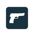 gun icon Rounded squares button vector image vector image