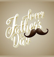 happy fathers day 3d typography background vector image vector image
