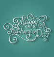 Happy Fatherss Day Inscription with Cravat vector image
