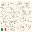 Healthy food sketches for menu design vector image vector image