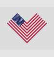 heart love usa flag modern style united states vector image vector image
