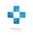 High-tech medicine logo Medical logotype design vector image