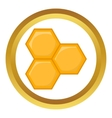 Honeycomb of bee icon vector image vector image