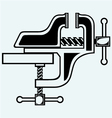 Household desktop vice vector image vector image
