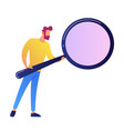 it specialist with magnifying glass vector image