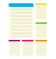 lined paper from a colorful notebook on white back vector image