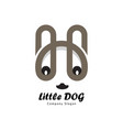 little dog from letter h vector image