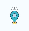location pin camping holiday map flat icon green vector image