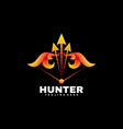 logo hunter gradient colorful style vector image