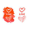love hand lettering for valentines day vector image vector image