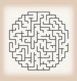 maze game on vintage background vector image
