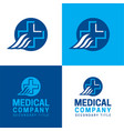 medical company logo and icon vector image vector image