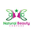 natural beauty logo design vector image vector image