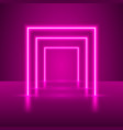 neon show light podium vector image vector image