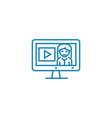online advertising linear icon concept online vector image