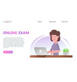 online testing or exam service concept vector image vector image