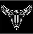 patriotic american eagle vector image vector image