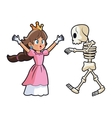 Princess skull and videogame design vector image vector image