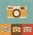 Retro Camera Icon vector image vector image
