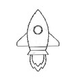 rocket sketch start up vector image vector image