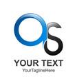 s letter logo os letter creative logo design icons vector image vector image