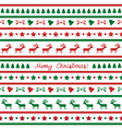 Seamless Christmas background23 vector image vector image