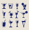 set of Drinks icon set vector image