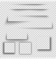 set of square shadow vector image vector image