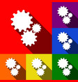 settings sign set of icons vector image vector image