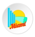 Sign Miami icon cartoon style vector image vector image